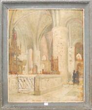 Artiste inconnu - Intérieur d'église