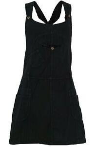Latzrock, Trägerkleid, Hippierock - schwarz