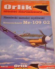 Kartonmodellbaubogen Messerschmitt Me109 G2