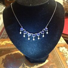 Sweet antique Silver Amethyst and Pearl necklace