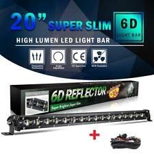 SLIM 20INCH 1200W LED WORK LIGHT BAR Singal ROW DRIVING LAMP + wiring harness
