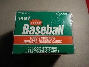 1987 Fleer Baseball Trading Cards Factory Sealed Update Set