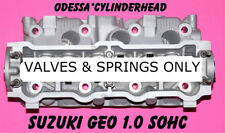 SUZUKI SWIFT GEO METRO 1.0 SOHC 3 CYL. CYLINDER HEAD VALVES & SPRINGS ONLY REMAN