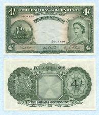 BAHAMAS 4 Shillings 1953 P13d VF++