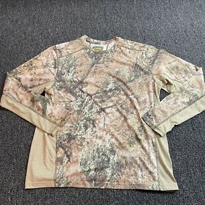 Cabela's Zonz Shirt Mens Size XL Real Tree Camo Dry Release Fresh Guard Long