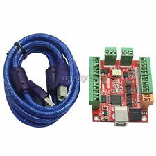 CNC 4 Axis 100KHZ Stepper Motor Driver Breakout Board USB MACH3 USBCNC Interface
