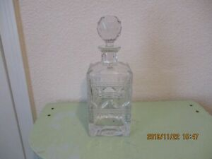 GORGEOUS VINTAGE LEAD CRYSTAL DECANTER by ROYAL LIMITED CZECH REPUBLIC