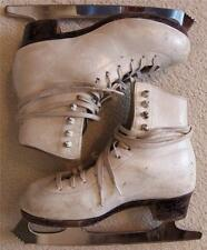 Womens Vintage Leather Ice Skates Size 2-1/2B Sheffield Steel Made in England