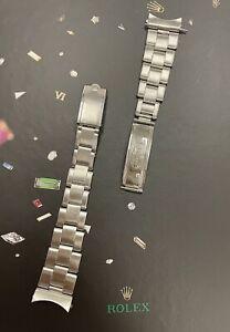 Rolex Vintage Mens (CROWN) Oyster Rivet 19mm Steel Band 57 Ends Ref:1500 6694