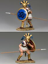 King & Country Ancient Greece Ag037 Hoplite Crouching With Spear Mib