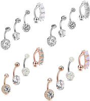 4PCS  Belly Button Rings Navel Belly Piercing Body Jewelry Belly Piercing 14G