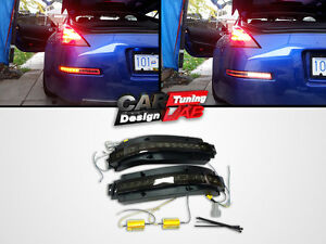 Rear bumper LED Back Reverse light fog lamps Brake lights Smoked Lens 4in1