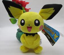 "2015 Authentic TOMY Pokemon X & Pichu 9.5"" Plush Doll"