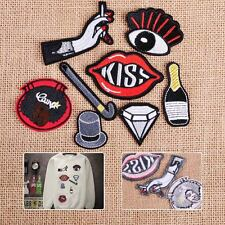Hot 8x Love Kiss Lips Embroidery Sew On Iron On Patch Badge Bag Clothes Applique