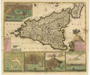 Cartina Geografica Sicilia Sud Orientale.Carta Geografica Sicilia Acquisti Online Su Ebay