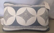 Quilt/Cottage Style BHF Accent Pillow Crystal Multi 12 x 18 Blue & White