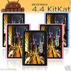 "7"" 8GB Google Android 4.4 Quad Core Tablet PC 【Dual Camera】Wifi Bluetooth LOT"