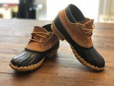 WOMENS LL BEAN Boots Short Duck Rain Navy Blue Shoes | SIZE 6 B M | PERF COND 🔥