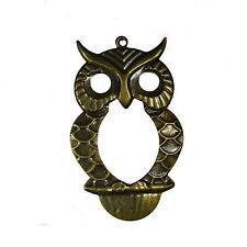 10 Antico bronzo gufo uccello Charms Ciondoli 75 x 45 mm gioielli rendendo risultati