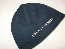 NWT Tommy Hilfiger DANNY SKULLY BEANIE Fleeced Lined DARK BLUE Hat   ADULT OS