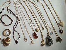 84g gold filled jewelry lot,beads,pendants,stones,pre-own cnd,wear,