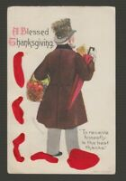 "[73232] OLD POSTCARD ARTIST SIGNED ELLEN H. CLAPSADDLE ""A BLESSED THANKSGIVING"""