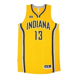 2016-17 Paul George Adidas Indiana Pacers Authentic Gold On-Court Rev Jersey XL