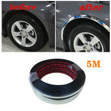 5M Silver Car Wheel Soft Rubber Eyebrow Protector Lip Arch  Fender Strip Durable