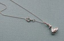 "STERLING SILVER DUCK PENDANT WITH 18 "" TRACE CHAIN FREE GIFT BOX"