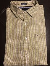 TOMMY HILFIGER Shirt Yellow/Black Size M 15.5-16 Long Sleeve Custom Fit Pocket
