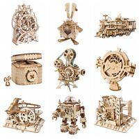 ROKR Puzzle en bois 3D Kits de construction de modèles mécaniques Cadeau jouet