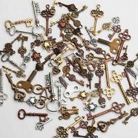 25Pcs Mixed Key Shape Pendant Punk Bag Decor DIY Craft Handwork Jewelry Making