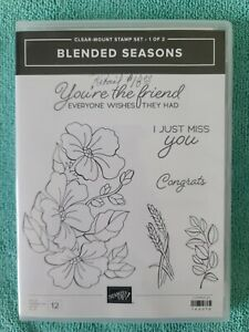 Stampin' Up BLENDED SEASONS cling stamp set 1 of 2 NEW