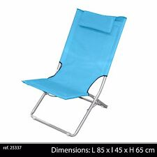 CHAISE PLIABLE TRANSPORTABLE PLAGE BRONZAGE CAMPING MER JARDIN NEUF 90