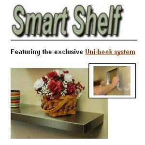 FRIGO DESIGN NEW STAINLESS STEEL SINGLE SMART SHELF FOR DRYWALL 48 INCH