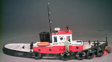 45' DIESEL RAILROAD TUG BOAT O On30 Waterline Hull Boat Unptd Resin Kit FR135