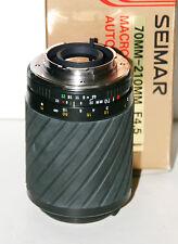 Obiettivo  Lens analogico Seimar 70-210mm f4.5 macro per Minolta MD - Nuovo
