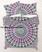 Indian Mandala Bohemian Hippie Boho Duvet Doona Cover Set Bedding SINGLE SIZE