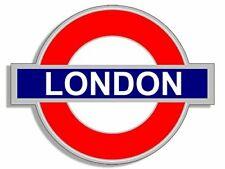 4x4 inch Tube Sign Shaped London Sticker (UK England Underg4x4 inch Round City)