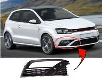 Vw Polo Gti 2014-2017 Front Bumper Fog Grille With Fog Hole Driver Side New
