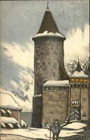 JUGEND Romont Switzerland Art Deco c1910 Postcard