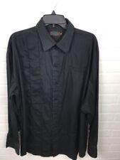 COOGI MEN'S BLACK STRIPED DRESS SHIRT SIZE XXL DD3