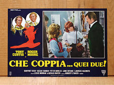 CHE COPPIA QUEI DUE fotobusta poster Roger Moore Tony Curtis Jewels Police Drink