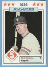 Mark McGwire 1986 Donn Jennings Huntsville Stars Southern League All-Star #3 rc