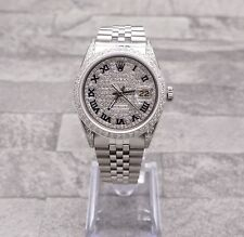 Gents Stainless Steel Rolex Oyster Perpetual Datejust Loaded Pave Diamond