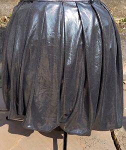 """Puff Ball Party Skirt 30"""" Waist Black metallic"""