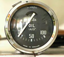 Jaeger Oil Pressure Gauge Manometro Triumph Tr2-Tr3-Tr4