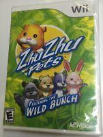 Zhu Zhu Pets Featuring the Wild Bunch Nintendo Wii New Sealed Package