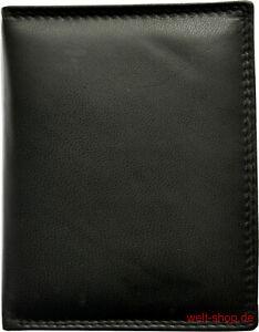 Hochwertige Geldbörse Geldbeutel Portemonnaie aus weichem Leder Schwarz Börse