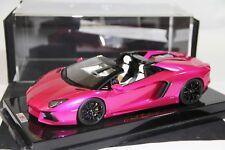 Lamborghini Aventador Roadster, Flash Pink on Carbon Base, Ltd 30 pcs MR 1/18